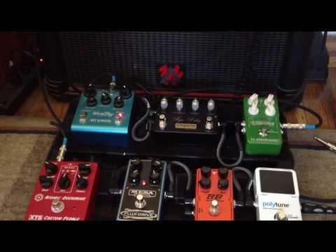 Pedalboard demo: XTS Atomic Overdrive, Mesa Flux Drive, Empress Tape Delay