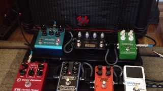 Pedalboard demo: XTS Atomic Overdrive, Mesa Flux Drive, Empress Tape Delay