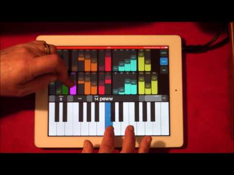Phawuo Synth for iPad  Demo  with AUFX Space  Massive Filth and Dirt