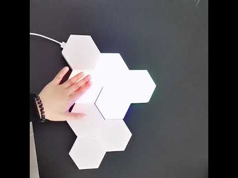 WHITE  Touch sensor hexagonal LED lights
