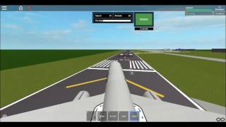 Roblox American 757 Takeoff and landing