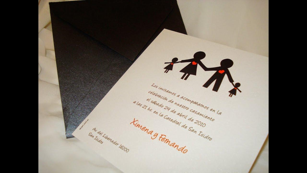 Tarjetas De Invitacion Para Matrimonio Sencillas Youtube