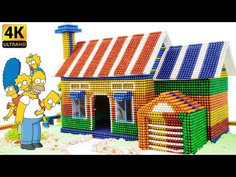 DIY - How To Build Simpsons Family House From Magnetic Balls - Satisfying Video - Magnet Balls