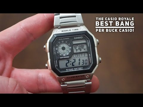 CASIO WorldTime Digital Watch Review - Casio Royale - Best Watch Under $30..