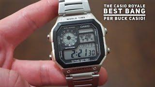 CASIO WorldTime Digital Watch Review - Casio Royale - Best Watch Under $30..