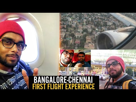 Vlog 4 -My First Flight Experience From Bangalore To Chennai |Air Asia|Reached Chennai In 30Mins!!😱