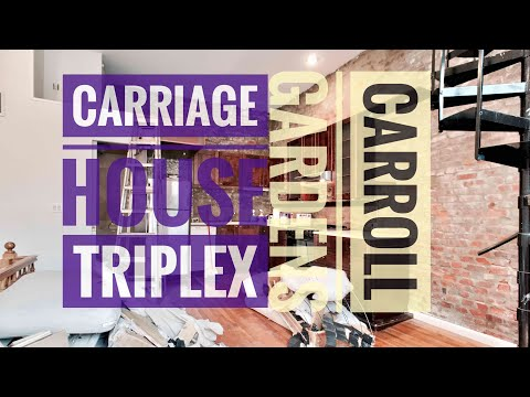 Triplex Carriage House in Carroll Gardens with Outdoor Space, Washer/Dryer 👀Video Tour NYC Brooklyn