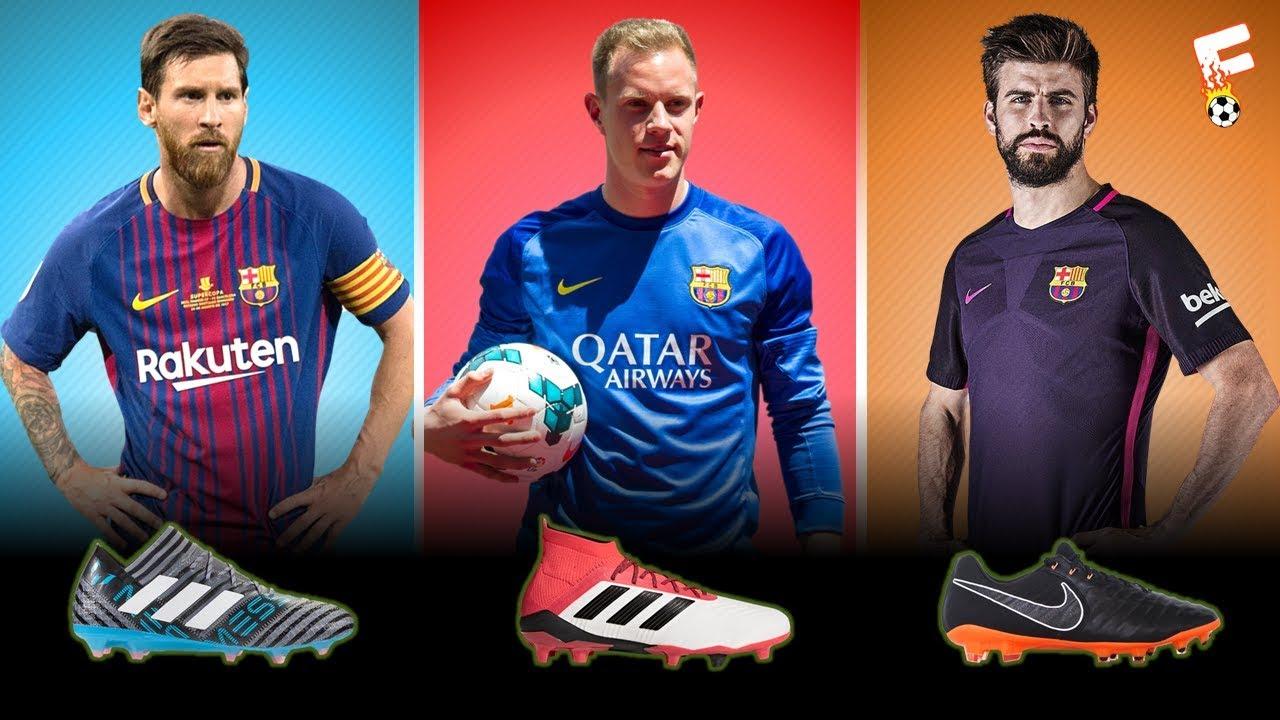 c7de9d31 Barcelona Football Boots 2018 ⚽ Barcelona Boots LineUp ⚽ Botas de ...