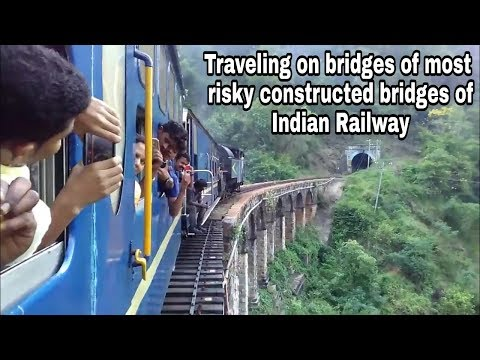 Traveling on old  bridges in Nilgiri mountains of Indian Railway