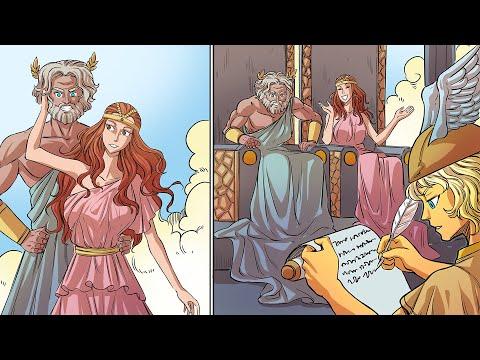 La Boda de Zeus y Hera: El Castigo de Quelona (La Ninfa Perezosa) - Mitología Griega en Historietas