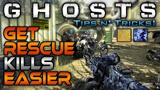 Get Rescue Kills Easier! (Gold/Ocean Camo) | CoD Ghosts Tips n