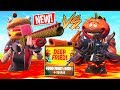 New FOOD FIGHT: DEEP FRIED Game Mode!! *THE FLOOR IS LAVA* (Fortnite Battle Royale)