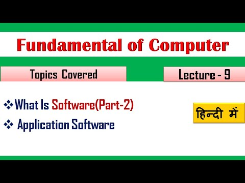 What is Application Software- (Lecture 09)