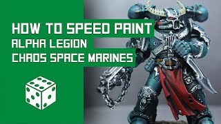 How To Speed Paint Alpha Legion: Warhammer 40k Chaos Space Marine Tutorial