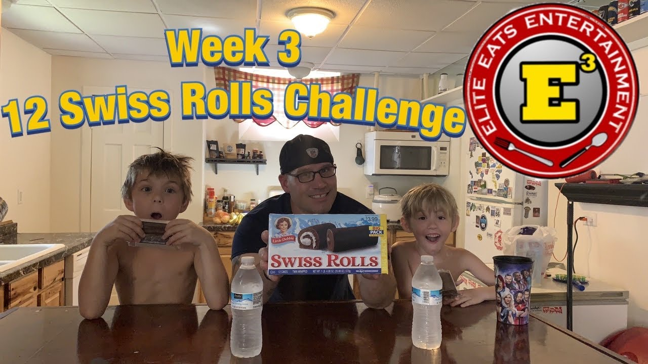 Elite Eats Entertainment, Week 3, 12 Swiss Rolls Challenge
