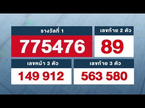 ตรวจหวย ตรวจผลสลากกินแบ่งรัฐบาล งวด 16 สิงหาคม 2562