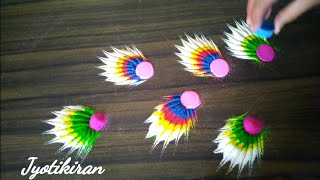 Very easy and attractive rangoli design