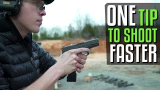 Fast Handgun Sight Alignment Tip