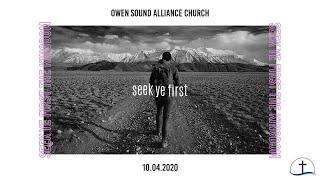 October 4th, 2020 Sunday Service // Owen Sound Alliance Church
