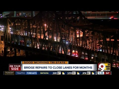 Lanes of Brent Spence Bridge to close for 2 months for scheduled maintenance