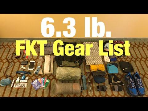 My 6.3lb Ultralight FKT Gear List