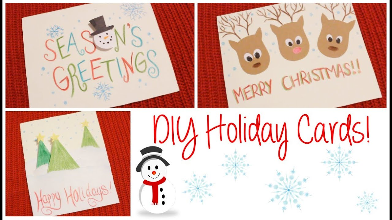 DIY3 Easy Holiday Cards!YouTube