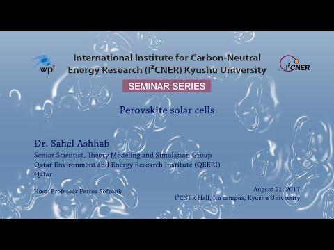 2017/8/21 I²CNER Seminar Series : Dr. Sahel Ashhab