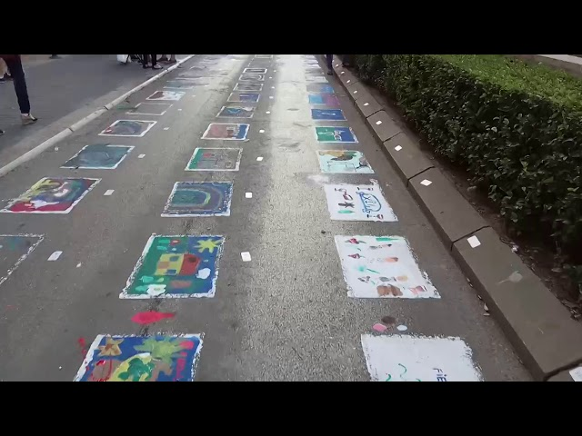 XLVII Concurso de Pintura en el Asfalto - Fiestas del Vino Valdepeñas 2017