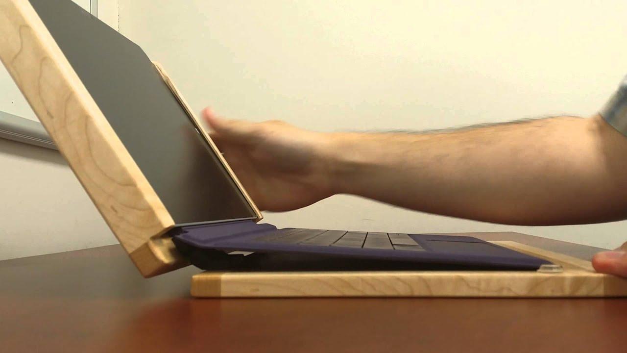 Surface Pro 3 Wooden Laptop Mode v1 - YouTube