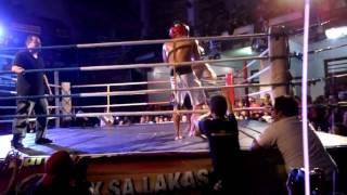 Battle Royale II. Vicious leg kicks by Ray Atienza. 2nd round.