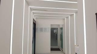 복도 ㄷ자 터널형 라인조명 2