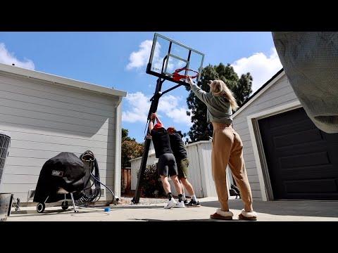 BASKETBALL HOOP INSTALLATION (Vlog #136)