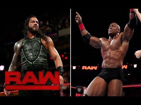 Resultados WWE Raw Doble Triple Amenaza Roman Reigns vs Bobby Lashley 2