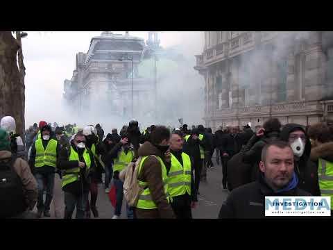 Violents affrontements sur la passerelle Sédar Senghor [ACTE 8 Gilets jaunes]