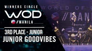 Junior Goodvibes | 3rd Place Junior | Winners Circle | World of Dance Manila Qualifier 2018