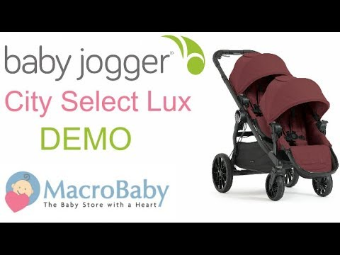 Baby Jogger City Select Lux Stroller Demo Macrobaby