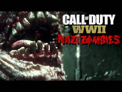 Call of Duty WW2 Nazi Zombies Mode Gameplay German #15 - Ekelhaft