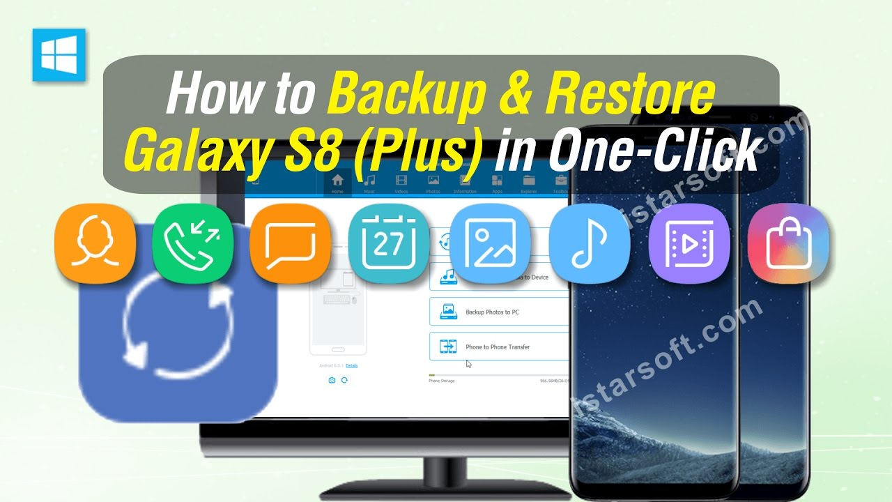 How to Backup & Restore Samsung Galaxy S8 (Plus) in One Click