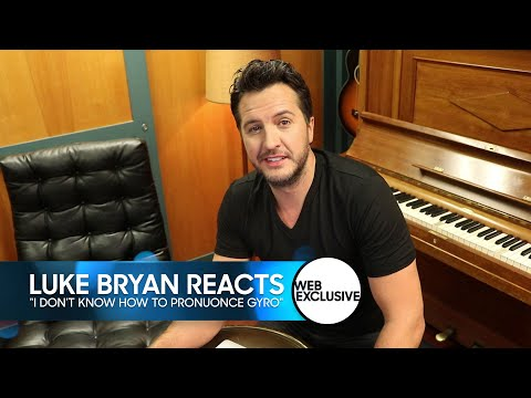 "Luke Bryan Reacts to ""I Don't Know How to Pronounce Gyro"""