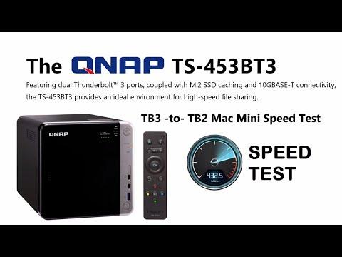 Black Magic QNAP TS-453BT3 TB3-TO-TB2 Speed Test