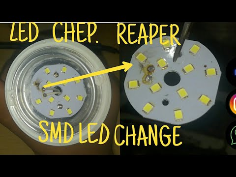 How To Change/Replace SMD LED BLUB CHiP (Simple Trick) Very Useful .