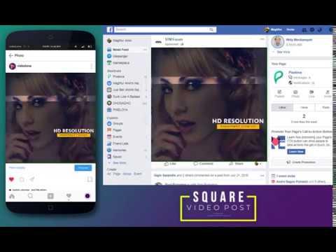 (V1-OTO) TeaserVideo Glitch Slideshow Square a