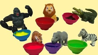ZOO SAFARI ANIMAL TOYS/Learn Colors and names and sounds of animals/Lion,Tiger,Gorilla/kids Learning