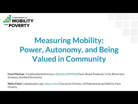 The US Partnership on Mobility from Poverty