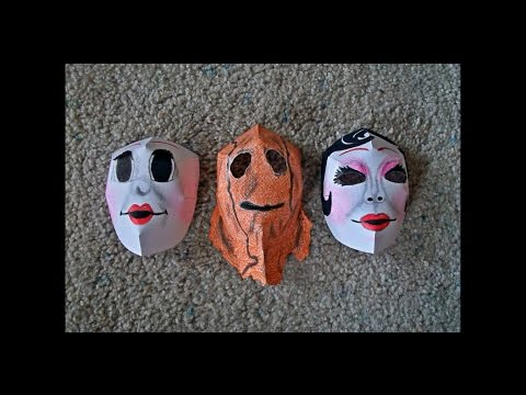 "Paper Models of the Masks from the Movie ""The Strangers"""