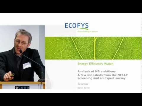 World Energy Outlook 2012: Energy Efficiency Watch, analysis and MS ambitions, Daniel Becker, Ecofys