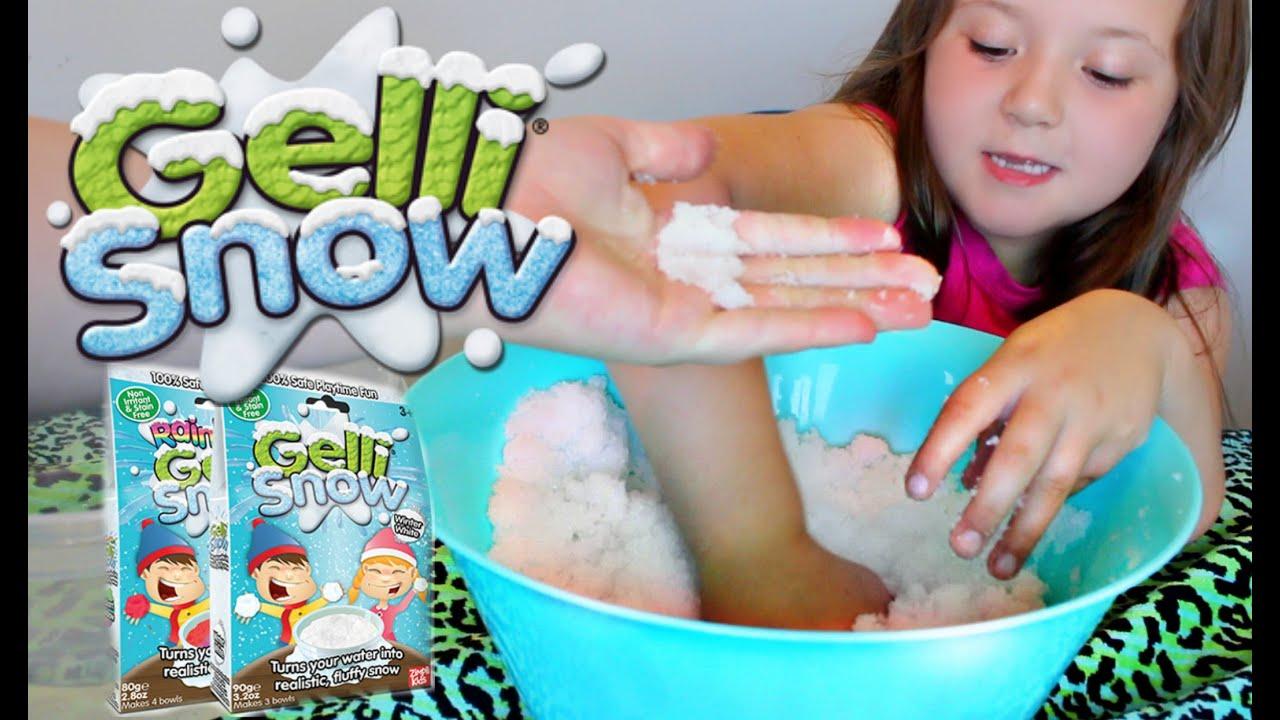 Squishy Gelli Baff With Toys : Gelli SNOW By Gelli BAFF! Squishy Gelli SNOW IN THE SUMMER? Daisys Toy Vlog - YouTube