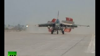 RAW: Russian Sukhoi jets land in Baghdad to boost fight against ISIS