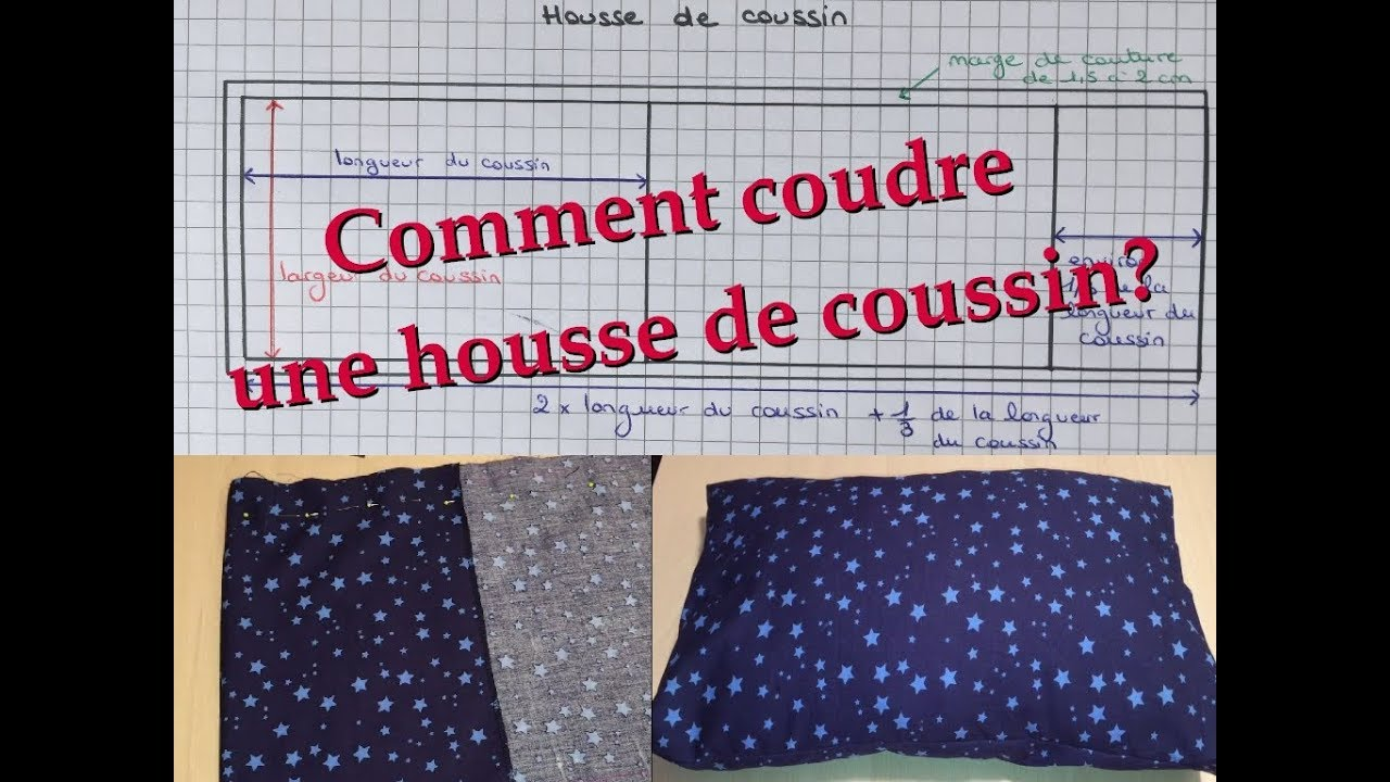 Couture Faire Des Housses De Coussins comment coudre une housse de coussin ? ⋆ bulles de créativité