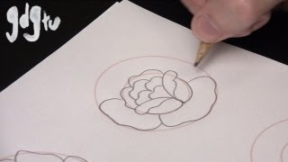 How To Draw Basic Traditional Rose Tattoo Designs By A Tattoo Aritist